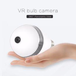 Wholesale Protection Monitoring - 2018-360 Degree Panoramic Bulb Monitoring Camera White Light Smart Home Camera WiFi IP Camera Protection of family safety