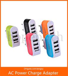 Şeker renkler 3 Usb portları Ab ABD Ac ev duvar şarj seyahat adaptörü adaptörü iphone samsung tüm smartphone cep Cep telefonu için nereden