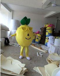 Wholesale Cute Mascot Costumes - New Style Adult Cute BRAND Cartoon New Professional Yellow Lemon Mascot Costume Fancy Dress Hot Sale Party costume Free Ship