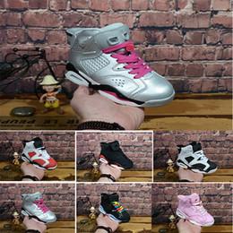 quality design 45e67 d3050 Nike air max jordan 6 retro Livraison gratuite 2018 Enfants 6 VI Basketball  Chaussures Enfants 6s Sports Garçons Filles Jeunes Bébé en plein air  Sneakers ...