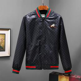 Wholesale floral print chiffon jacket - 2017 winter Luxury fashion Brand windbreaker jacket medusa floral print jackets Men casual long sleeve outerwear hooded jackets coats 3XL