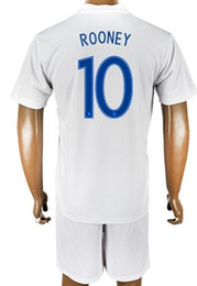 Wholesale Cheap Uk Wholesale - Cheap discount 17-18 Customized uk 9 KANE soccer jersey Sets With Shorts,Custom 10 Rooney 11 VARDY 10 Dele 7 Sterling 10 Dele Soccer Uniform