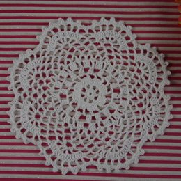 "Wholesale Make Table Mats - Wholesale- custom made Round Crochet Doily pattern 7""18CM handmade Crochet cup mat 20PCS home wedding table decorations"