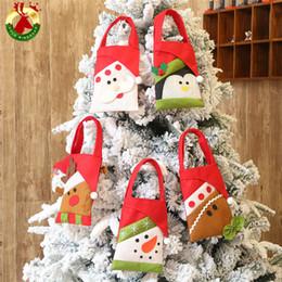 rena de tecido de natal Desconto Novo 5 cores Sacos de Natal Grande não-tecidos Saco De Santa Sack saco de mão Com Renas Sacos de Saco de Papai Noel para o miúdo 300 pcs T1I829