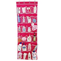 Wholesale Hanging Door Pocket Organizer - New Fashion 24 Pockets Over Door Hanging Bag Shoe Rack Hanger Storage Tidy Organizer For Dolls Shampoo