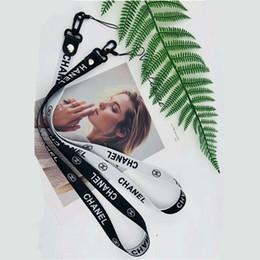 Borsa laterale del telefono cellulare online-Universal Cell Phone Neck Lanyard Double Sided Neck Strap Band Cordini per fotocamera Telefono cellulare iPod USB Flash Drive Borsa OPP Soundmae