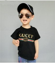 Wholesale baby tops - Children T shirt for Boys Clothing Baby Boys Girls Summer Tops&Tee Cotton Kids clothes toddler playsuit