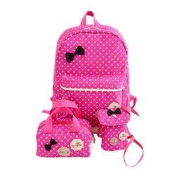 perlenschultaschen Rabatt Nettes Mädchen Schultaschen für Jugendliche Rucksack Set Frauen Schulter Reisetaschen 3 Teile / satz Rucksack Rucksack Kinder Kinder