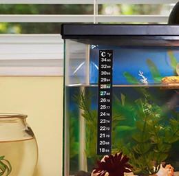 commercio all'ingrosso termometro del serbatoio della pesca Sconti Acquario Fish Tank Termometro Temperatura Sticker Acquario Accessori Digital Dual Scale Stick-on Fish Tank Termometro KKA5647