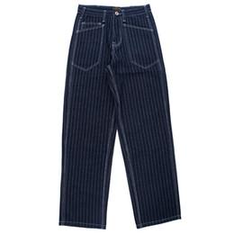 Otoño Invierno Vintage Stripe Jeans Hombres Cargo de carga suelta Streetwear  Moto Jean Hombre Largo lavado de mezclilla Pantalones Casuales Ropa de  Hombre ... 2dd02e29a15