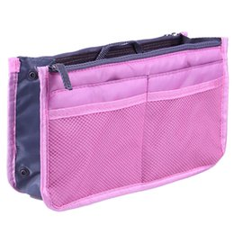 Wholesale Inside Bag - Double zipper large bag with multi-function packing bag small makeup bag to receive inside bladder.