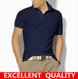 Wholesale High Quality Clothing Brands - High Quality Men Polo Shirt Brands Slim Fit Casual Solid Polo Shirts Brand Clothing Short Sleeve Fashion Big Horse Embroidery Polo shirt