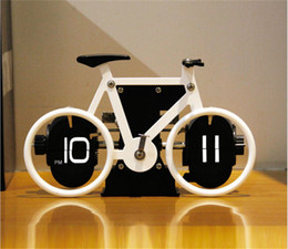 Wholesale Clock Bike - New Arrival Unique Desgined Toy Presents Creative Bike Tabletop Turning Page Clock-C