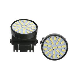 Ampoule antibrouillard arrière en Ligne-10pcs blanc T25 3157 22SMD 1206 LED voiture sider fabricant brouillard queue frein arrière inverse ampoule 12V lampe LED de voiture