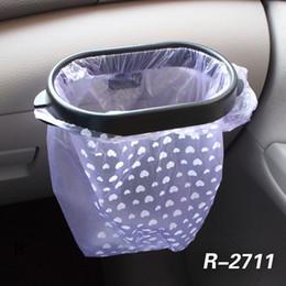 suportes de lixo para automóveis Desconto Saco De Lixo Do carro Titular Rack Rack De Armazenamento De Otário Saco de Lixo Bag Hanger Clips Removível Car Lixo Bin Hanger Fita Adesiva AAA1211