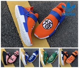 Wholesale Dragon Lights - Adidas Originals Human Race Pharrell Williams Trail Hu Dragon Ball Goku Vegeta Breathe Women Men Running Shoes Sneakers Tennis Hu Trainer