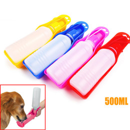Wholesale Hot Dog Water - Portable Dog Feeding Bottle Cat Pet Drinking Water Bottle Outdoor Travelling for Pet Dog Free shiping 500ML