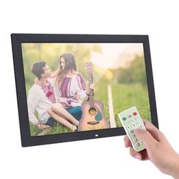 """lecteur de films pc Promotion 18,5 """"cadre photo numérique 1366 * 768 haute résolution LED électronique numérique cadre photo album photo avec télécommande"""