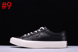 Wholesale Blue Label - 2017 Conve One Star Leather Tapestry Black Leather Three Star Label Men 157804C Sneaker Trainers Canvas shoes With box