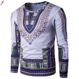 efd63d3f16 T Shirt Hommes À Manches Longues Nouvelle Mode 2017 Africain Print  Printemps Hommes Marque Vêtements Casual Mince O-cou T-shirt Homme T-shirts  lacoste pas ...