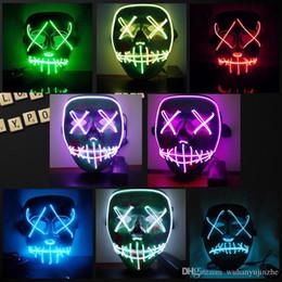 Хэллоуин Маска LED загораются смешные маски чистки год выборов Большой фестиваль косплей костюм поставки партии маски светятся в темноте DH203 от Поставщики защитный кабель для передачи данных