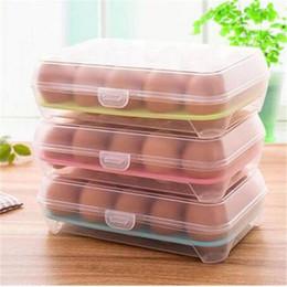 Küchen eierhalter online-2019 freies verschiffen Kühlschrank Ei Aufbewahrungsbox Fall 15 Eier Halter Aufbewahrungsboxen Küche Aufbewahrungsorganisation