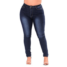 ed502361a44 Summer Woman s High-stretch Denim Pants Super Plus Size Gloria Jeans for  Women Breeches Overalls Vintage Female Torn Trousers
