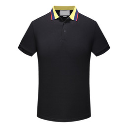 Wholesale Mens Designer Shirts For Men - famous designer POLO shirt Fashion Mens classic lapel T shirt luxury embroidery high-quality mesh cotton brand tee For Men with tag M-3XL