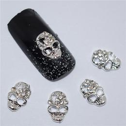 Wholesale Gem Nails - 40pcs 3d Nail Jewelry Decoration Nails Art Glitter Rhinestone for Manicure White Gem Skull Design Nail Accessories Tools #172