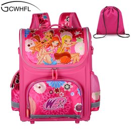 Wholesale children school branded backpack - GCWHFL Brand Orthopedic Schoolbag Girls Backpacks For School Kids Rucksack Children School Bag Princess Knapsack Mochila Escolar