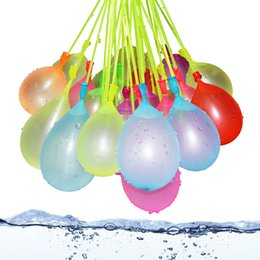 Wholesale Novelty Items For Kids - 111pcs lot Filling Water Balloons Funny Summer Outdoor Toy Balloon Bunch Water Balloons Bombs Novelty Gag Toys For Children