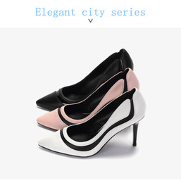 Wholesale Modern Women Office Dress - Nude shoes,women's high heels,modern style.pink,white,black.Elegant city series.Nude shoes make your legs look miles long,can all-match.