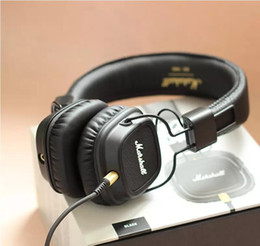 Wholesale Microphone Monitor - Headphones Gaming Headset Headphone Marshall Major Wired With Remote Microphone Deep Bass DJ HiFi Professional Monitor computer
