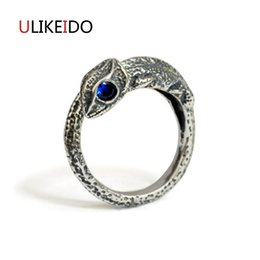 Wholesale Sterling Dragon Ring - whole sale100% Pure 925 Sterling Silver Jewelry Lizard Dragon Rings Opening Wide Version Men Signet Ring For Women Christmas Gift 1057