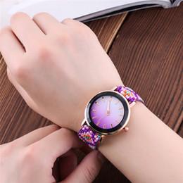 2019 женские наручные часы Ladies watch Ethnic style hand-woven wrist watch Fashion Gradient Bead strap Ladies wear bracelets Gift for woman скидка женские наручные часы