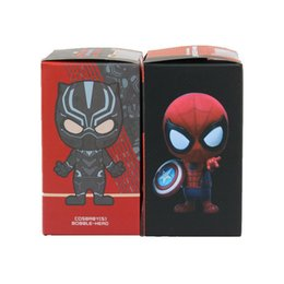 Встряхивающие коробки онлайн-Мститель Лига Q версия тряска Пантера тряска головой Человек-Паук коробка яйцо кукла украшение автомобиля V 001