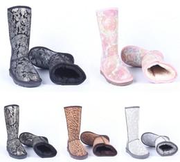 botas largas de cuero mujer invierno Rebajas botas de mujer Estilo de Australia Mujeres ug Botas de nieve de invierno Botas largas para exteriores de cuero genuino de gamuza 100%