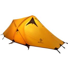 2019 sacchetti di tenda in nylon Tenda da campeggio Oudoor Ultralight doppio strato per 2 persone 4 stagioni Tende da escursione con borsa da trasporto Tenda professionale in nylon 20D di rodio siliconato sacchetti di tenda in nylon economici