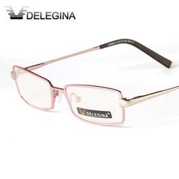 2020 brillengestell rosa DELEGINA Pink Damen Optische Brillen Rahmen Für Frauen Myopie Lesen Verschreibungspflichtigen Brillen Brillenfassungen günstig brillengestell rosa
