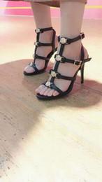 Damen kleiderschuhe online-[Original Box] Luxus neue Medusa Damen Slingbacks Sandalen High Heel 9 CM Kleid Hochzeit Knöchelriemen Rindsleder Schuhe Größe 35-42