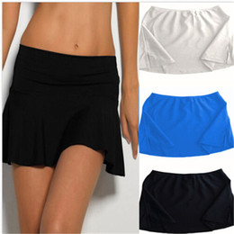 Wholesale Tankini Skirted Swimsuit - Summer Bikini Sexy Woman Beach Swimsuit Swimwear Beachwear Bathing Suits Tankini Short Skirt Solid Colour One-Piece Suits