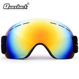 ea444e5fff8 Men Women Adult Winter Climbing Snow Glasses Ski Goggles Anti-fog Sandproof Large  Spherical Snowboard Skiing Glasses