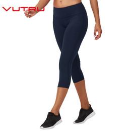 7d1fbad13edde slimming capri leggings Canada - Vutru Womens Capri Pants Sport Yoga Pants  Bodybuilding Running Tights Sports