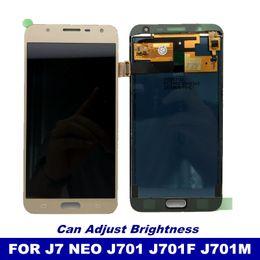 Teléfono LCD con control de brillo para Samsung Galaxy J7 neo J701 J701F Pantalla táctil Digitalizador Asamblea LCD Reemplazo desde fabricantes