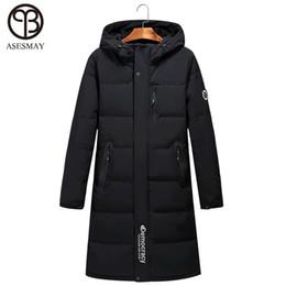 62d8e46dee1e Asesmay 2018 Men Down Jackets Russian Hooded Long Thick Winter Warm Duck Parka  Goose Feather Wellensteyn Coat Mens Puffer Jacket