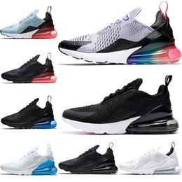 Nike Air Max 270 Airmax the details page for more Logo Chaussures de course  270s Hommes Femmes Betrue Hot Punch Triple Noir Blanc OG Oreo Teal Photo  Bleu ... 16b367db990e