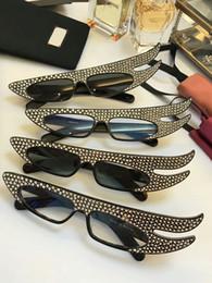 Harz engel flügel online-New fashion luxury sonnenbrille für männer designer sonnenbrille für frauen top qualität designer gläser Angel Wings Diamond Limited Edition gläser