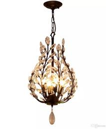 2019 lampadari illuminazione rustico Lampadario a 4 luci Ambient Light - Crystal Mini Style, rustico / lodge Lanterna d'epoca Country Tradizionale / Classico Retro Modern / Contempo