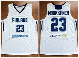 0679344891a1 23 LAURI MARKKANEN FINNLAND NATIONALES TEAM 2017 EUROBASKET Retro  Basketball Jersey Herren Genäht Custom Anzahl und Name Trikots basketball  trikot team im ...