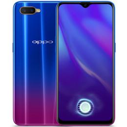 k1 téléphones cellulaires Promotion Original OPPO K1 4G LTE téléphone portable 4 Go de RAM 64 Go de ROM Snapdragon 660 AIE Octa Core 6,4 pouces plein écran 25MP d'empreintes digitales ID Smart Phone Mobile